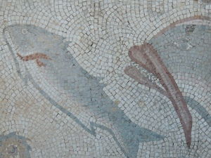 Fish mosaics at Estoi, Algarve