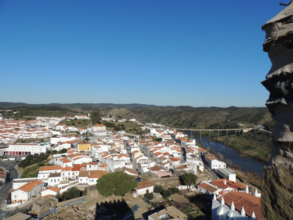 View from the castle in Mértola