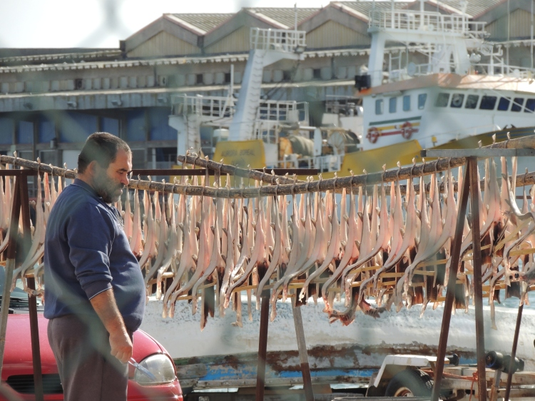 Drying fish in Olhao