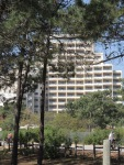 One of the many large hotels - tried to make it look better by taking the photo through the trees!