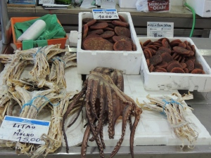 Dried octopus, dried octopus eggs and dried dog fish