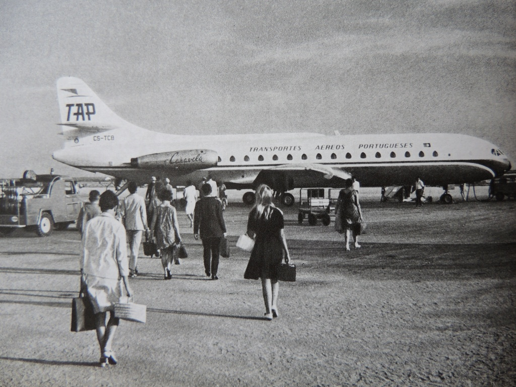 Boarding a TAP plane in the 1960s