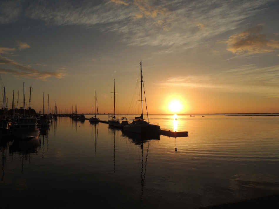 Olhao's marina at sunrise