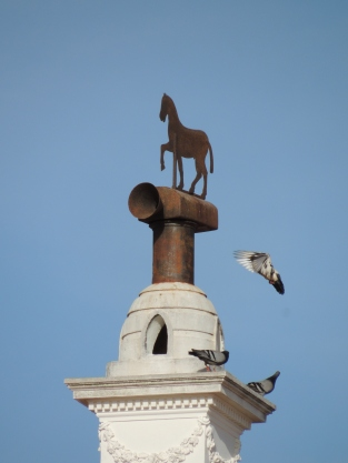 Pigeons on Chimney