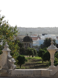 the village surrounds the palace