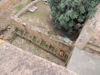 Inside the keep - cisterns?