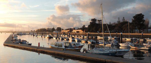 Olhao markets and marina