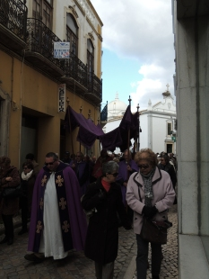 The celebrant in procession