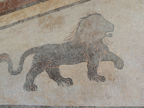 Mosaics in the grotto