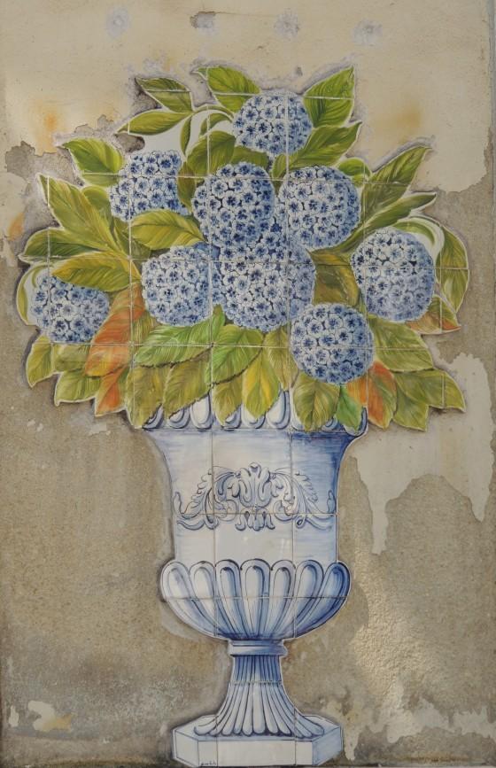 Hydrangea tiles