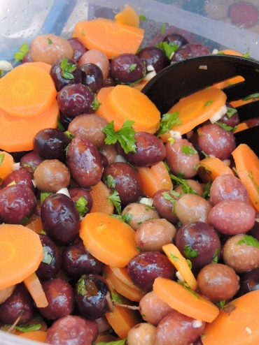 Olives with carrots
