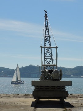 Coal crane outside