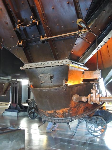 below the furnaces