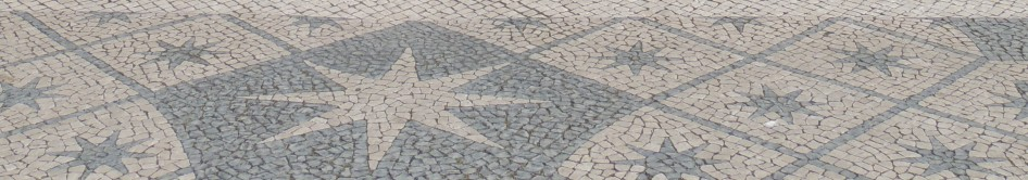 Belem cobbles close up
