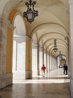 Arcades around Praça do Comércio