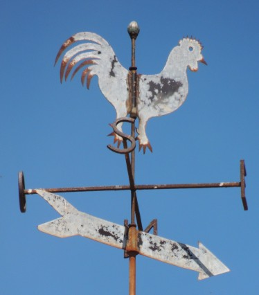 Typical weather vane