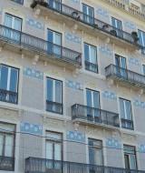 Windows overlooking Jardim Braamcamp Freire