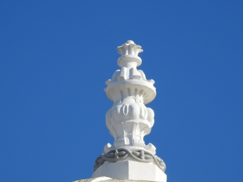 Top of the church, not cake!