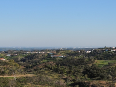 That's Spain in the distance