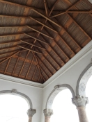 Under the hipped roof