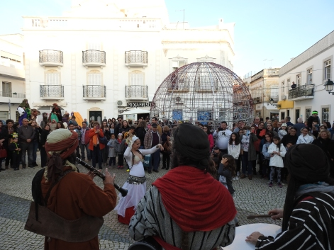Dancing in front of the town hall