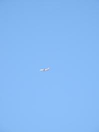 Easy Jet flying over