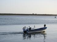 Fisherman leaving