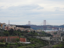 Views of the bridge and Cristo Rei