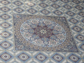 Mosaic floor as seen from above