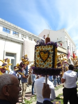 Procession passing