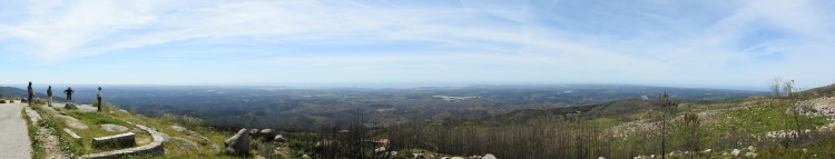 Panoramic views just below the summit