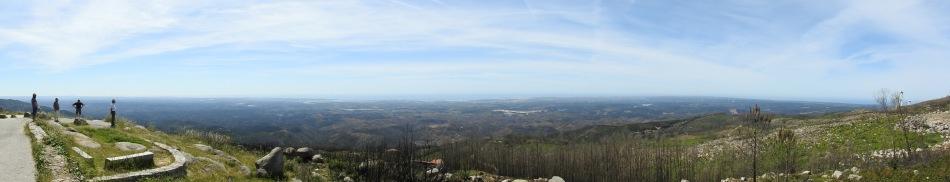Panoramic views just below the summit