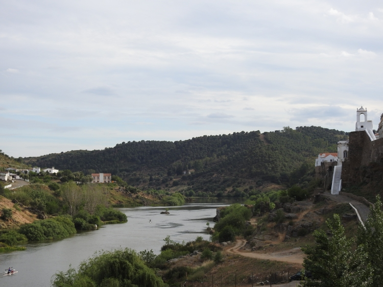 Kayaks and Canoes on the Rio Guadiana