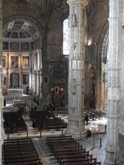Looking down into the Church of Santa Maria