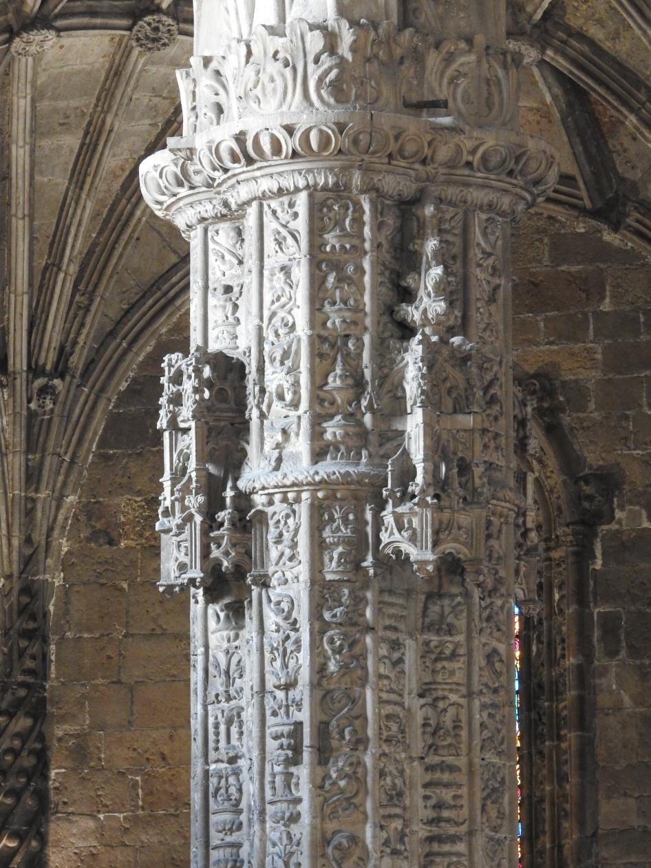Column in closeup