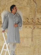 Angel on a stepladder