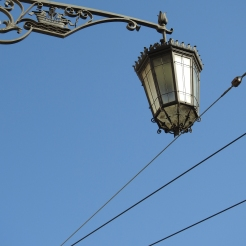 Street lights and tram wires