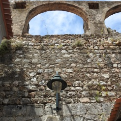 Inside the city walls looking up