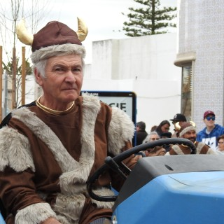 Viking on a tractor