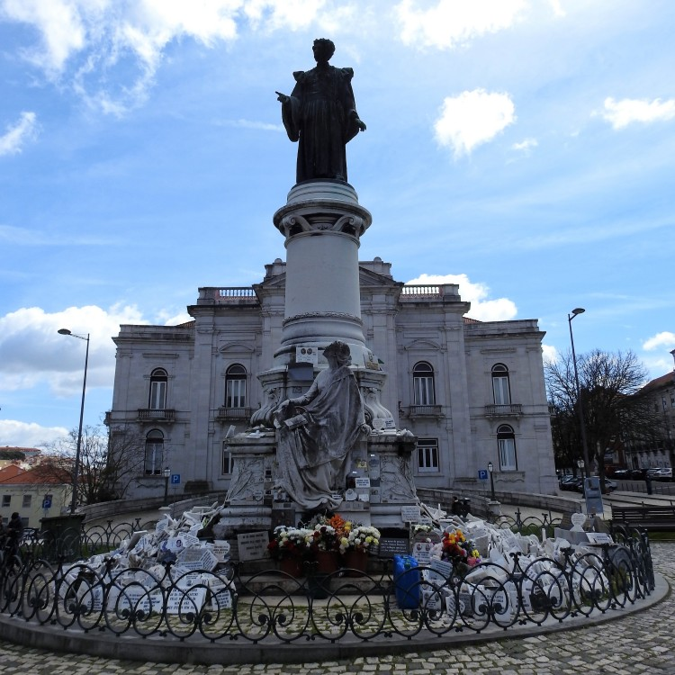 Monument in honor of Sousa Martins, Campo de Santana, Lisbon.