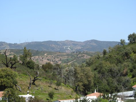 Rolling hills in the area known as the Barrocal