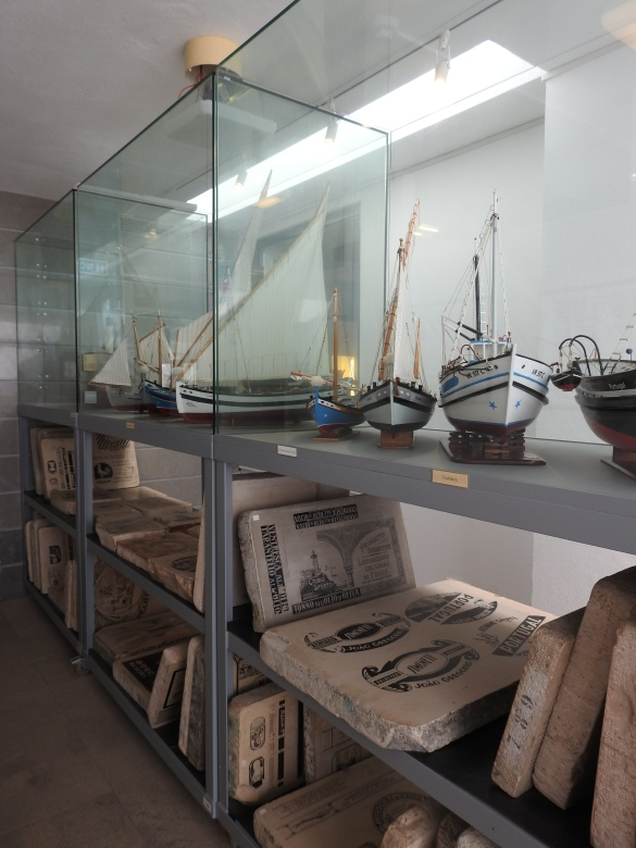 Fishing boats and lithographic plates