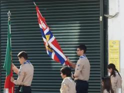 Scouts arrive