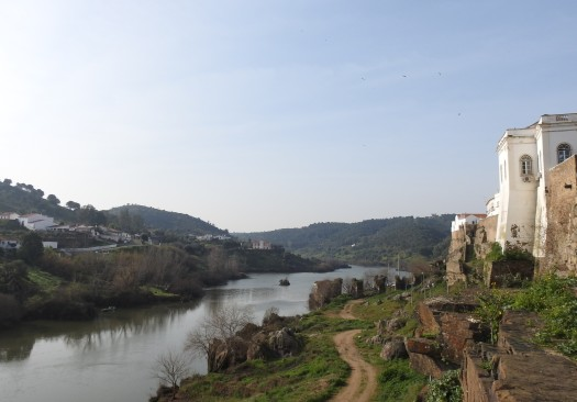 Southern view from Rio Guadiana