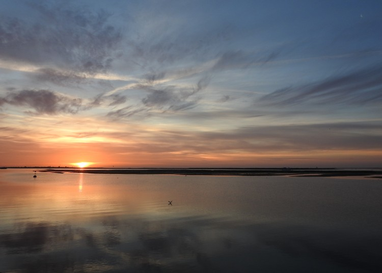 Sunrise over Ria Formosa